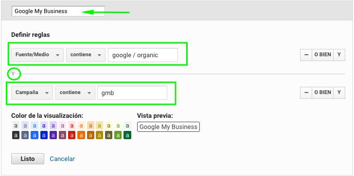 google my business como nuevo canal en Analytics